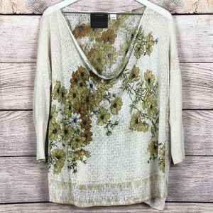 Anthropologie | Guinevere Pointelle Posey Sweater